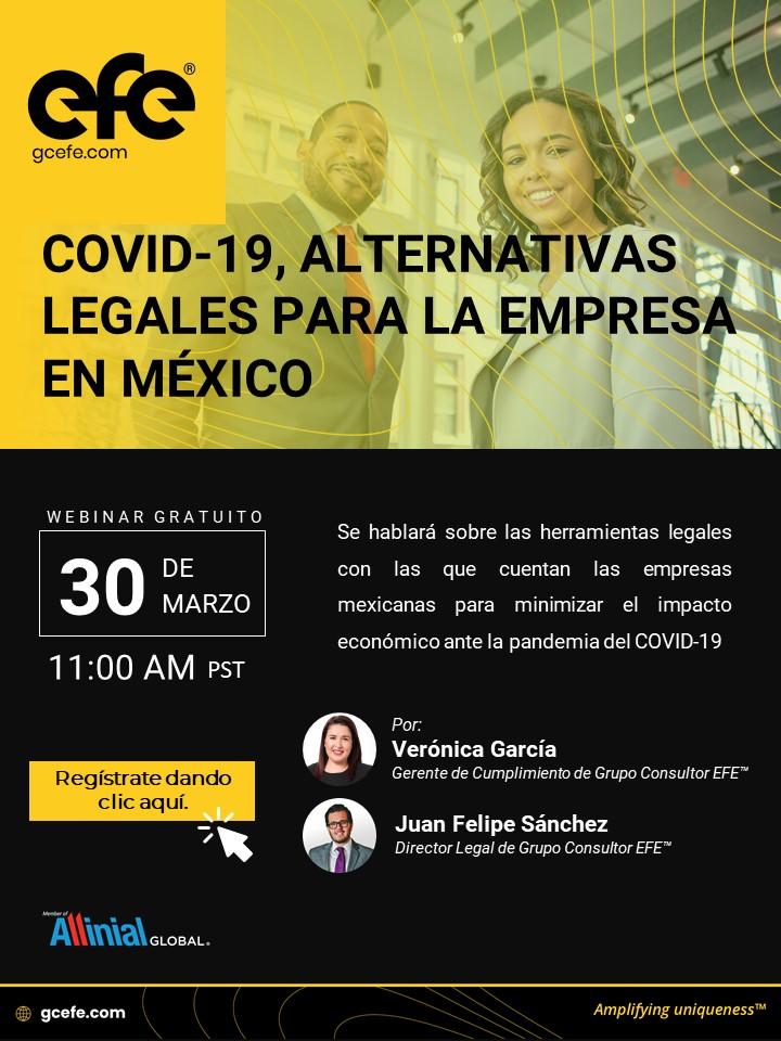 Covid-19, Alternativas Legales Para La Empresa En México