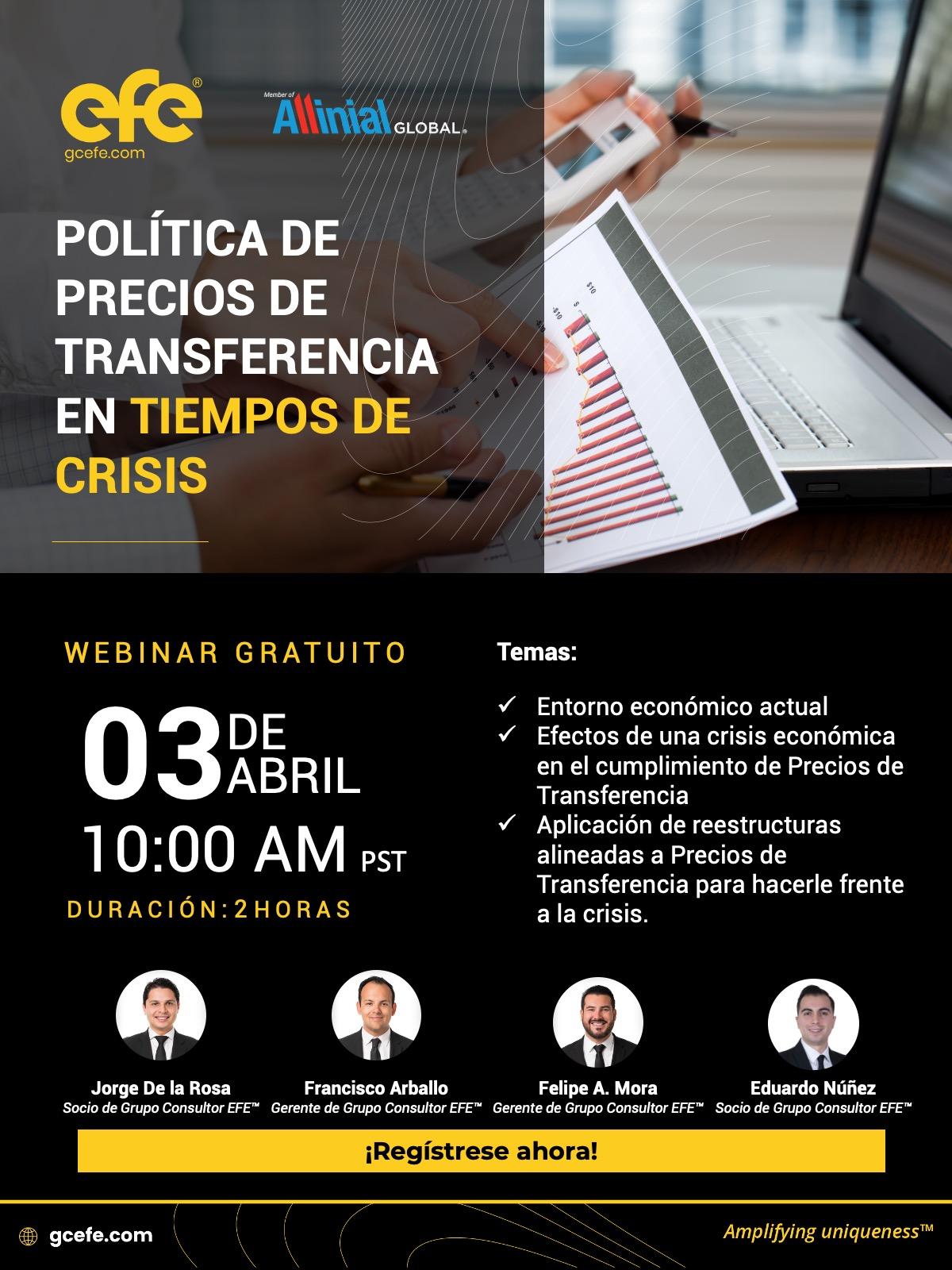 Política De  Precios De Transferencia En Tiempos De Crisis.