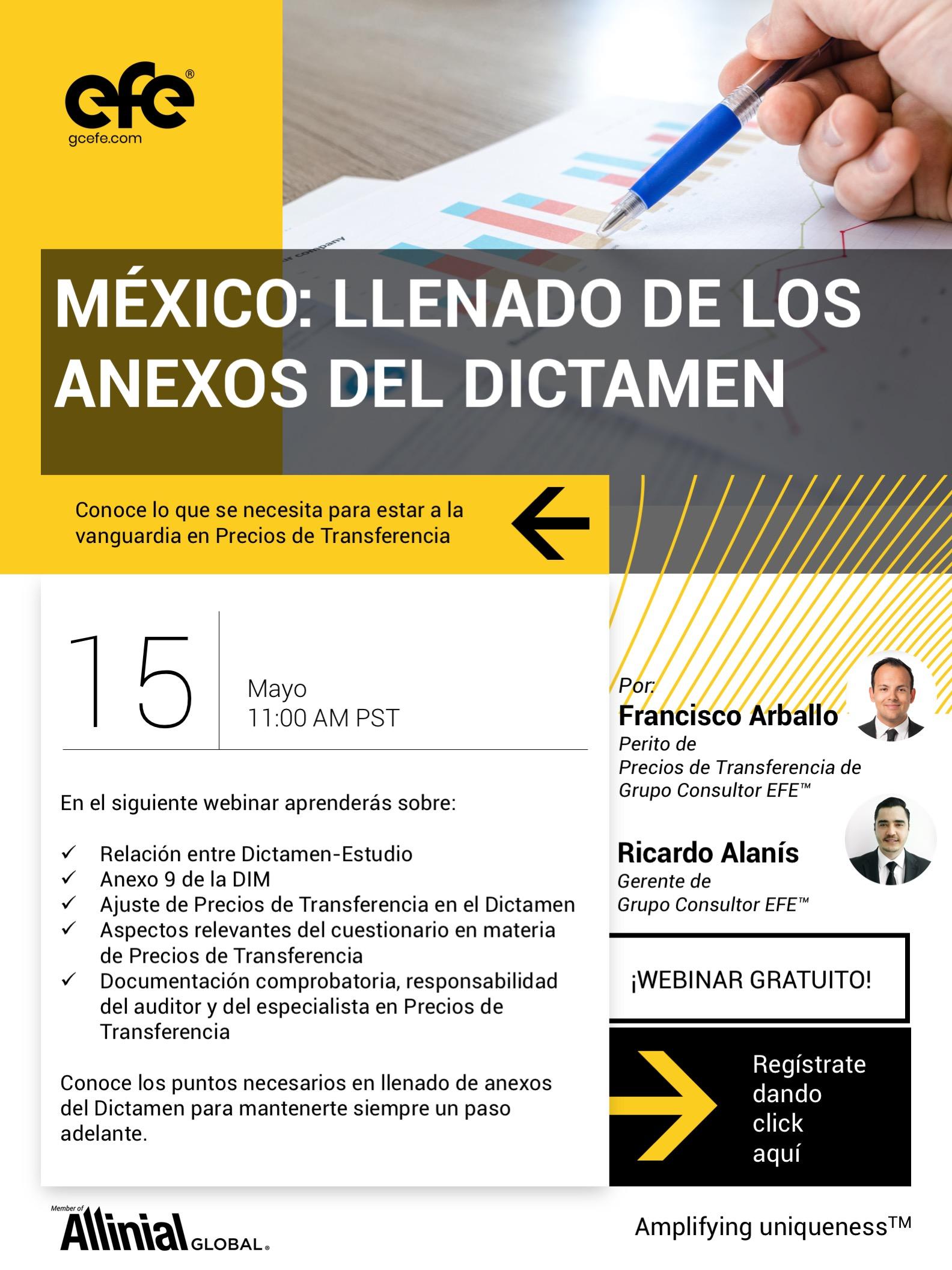 México: Llenado De Los Anexos Del Dictamen