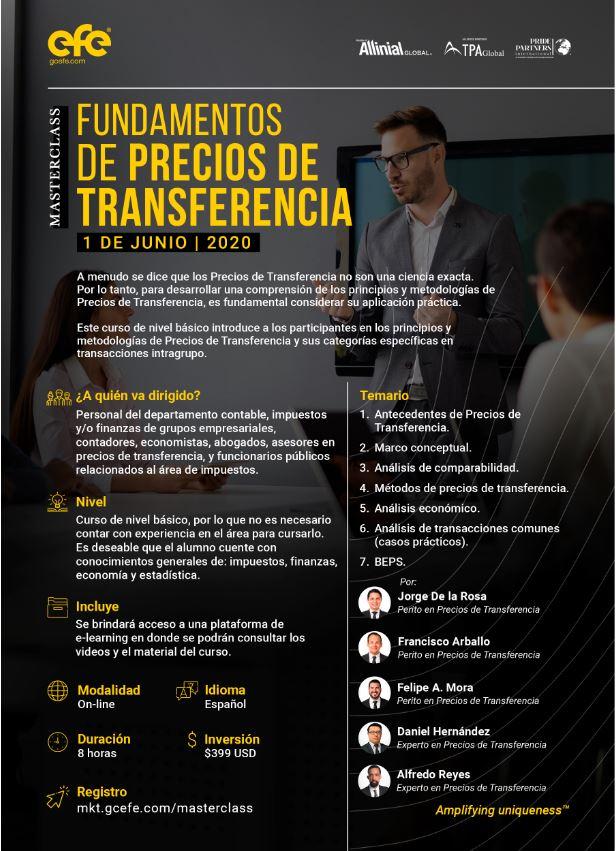 Masterclass Fundamentos De Precios De Transferencia