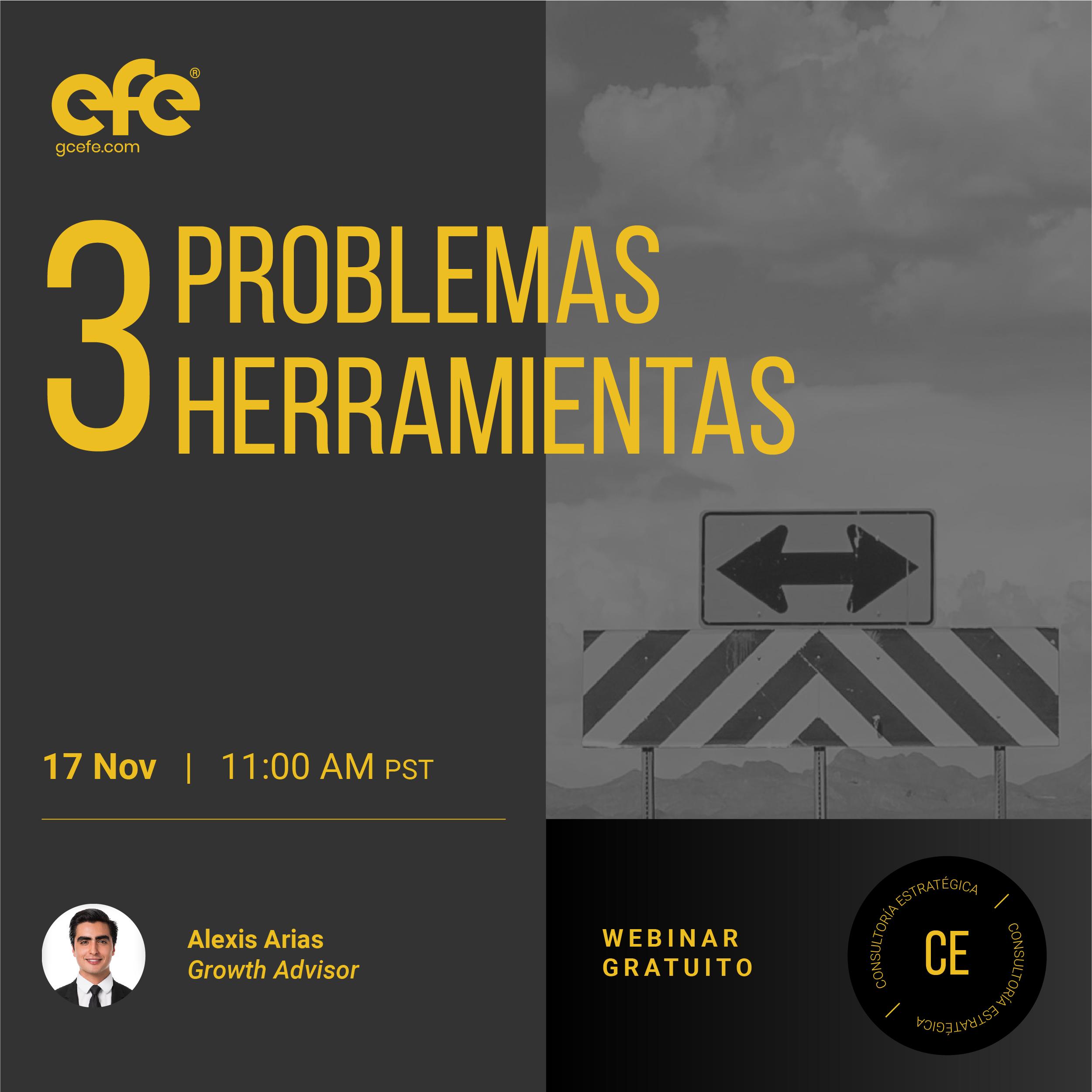 3 Problemas, 3 Herramientas
