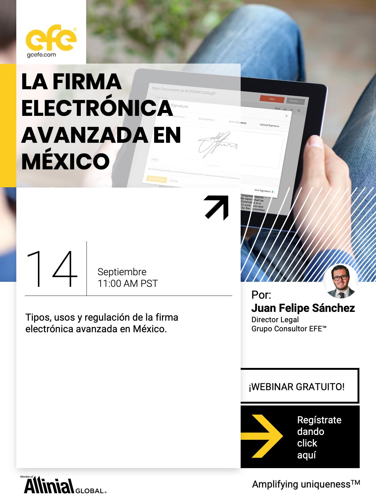 La Firma Electrónica Avanzada En México.