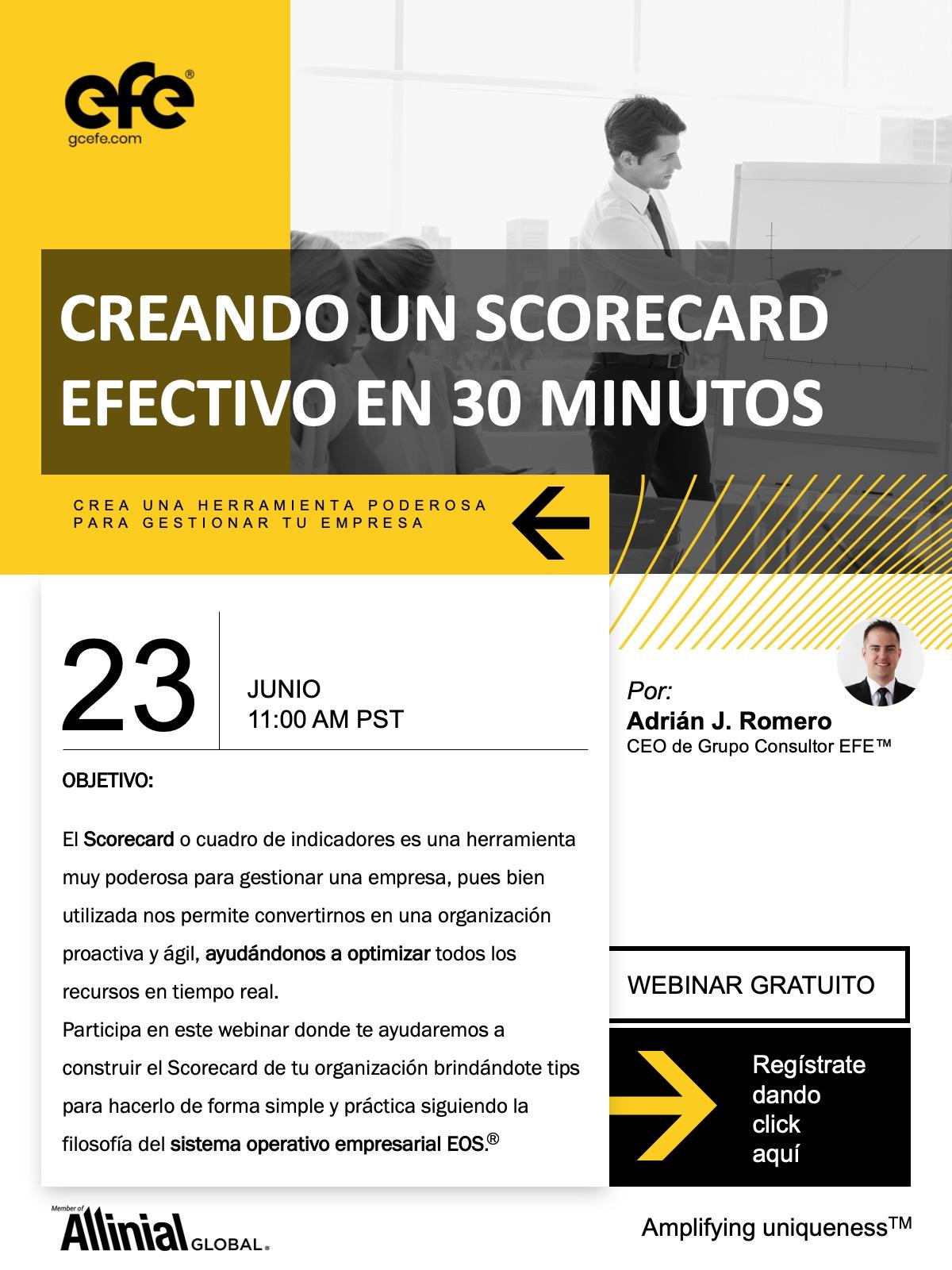 Creando Un Scorecard Efectivo En 30 Minutos