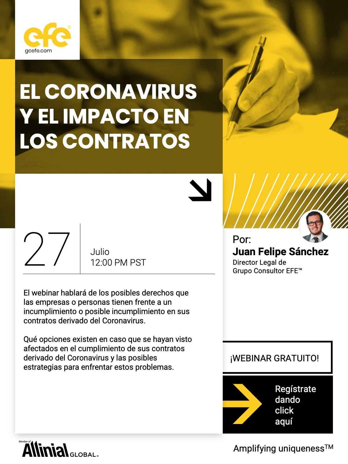 El Coronavirus Y El Impacto En Los Contratos